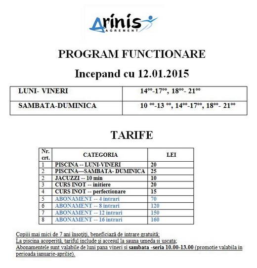 program arinis 2014