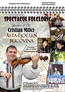 Afis spectacol folcloric