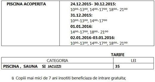 Arinis - Program sarbatori 2015